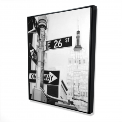 Framed 48 x 60 - 3D - New york city street signs