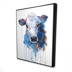 Framed 48 x 60 - 3D - Watercolor jersey cow