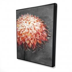 Framed 48 x 60 - 3D - Abstract dahlia flower