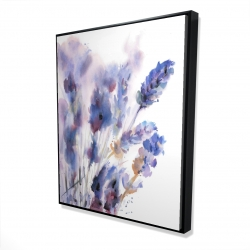 Framed 48 x 60 - 3D - Watercolor lavender flowers with blur effect