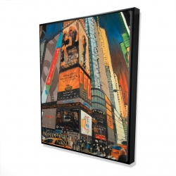 Framed 48 x 60 - 3D - Illuminated new york city street