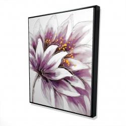 Framed 48 x 60 - 3D - Purple flower