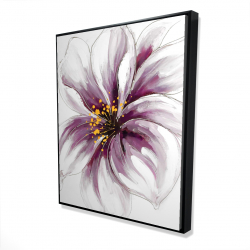 Framed 48 x 60 - 3D - Purple orchid