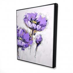 Framed 48 x 60 - 3D - Purple anemones