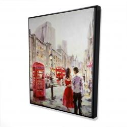 Framed 48 x 60 - 3D - Couple walking