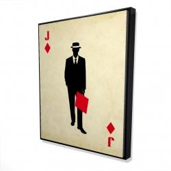 Framed 48 x 60 - 3D - Jack of diamonds