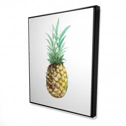 Framed 48 x 60 - 3D - Watercolor pineapple