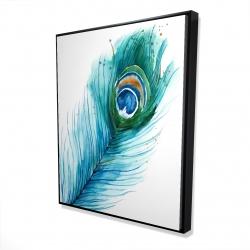 Framed 48 x 60 - 3D - Long peacock feather