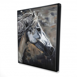 Framed 48 x 60 - 3D - Side of a wild horse