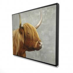 Framed 48 x 60 - 3D - Beautiful higland cattle