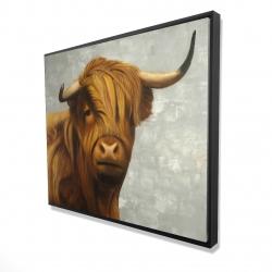 Framed 48 x 60 - 3D - Highland cattle