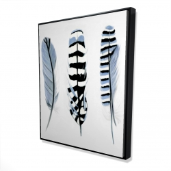 Framed 48 x 60 - 3D - Delicate feathers