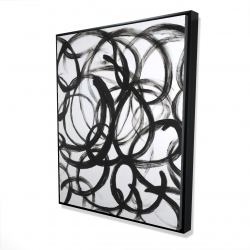 Framed 48 x 60 - 3D - Abstract curly lines