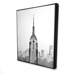 Framed 48 x 60 - 3D - Empire state building