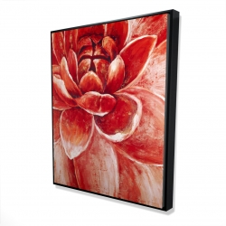 Framed 48 x 60 - 3D - Red chrysanthemum