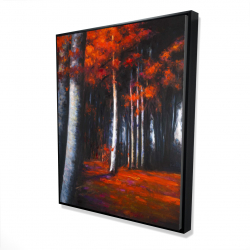 Framed 48 x 60 - 3D - Mysterious forest