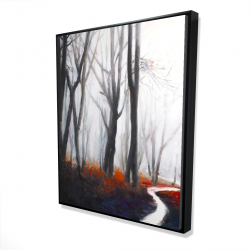 Framed 48 x 60 - 3D - Mysterious forest with stream