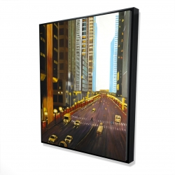 Framed 48 x 60 - 3D - New york city 9th street