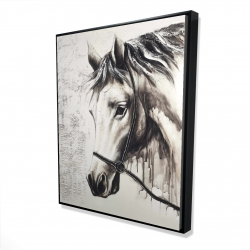 Framed 48 x 60 - 3D - Alpha the white horse