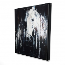 Framed 48 x 60 - 3D - Abstract horse on black background