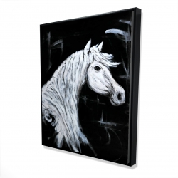 Framed 48 x 60 - 3D - Horse profile view