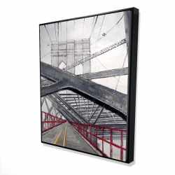 Framed 48 x 60 - 3D - Under the brooklyn bridge
