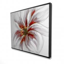 Framed 48 x 60 - 3D - Resplendent pink orchid
