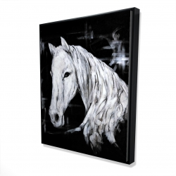 Framed 48 x 60 - 3D - Abstract horse profile view
