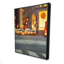 Framed 48 x 60 - 3D - Blurred view of new york