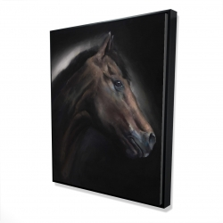 Framed 48 x 60 - 3D - Loneliness horse