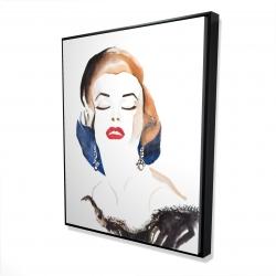 Framed 48 x 60 - 3D - Vintage chic maryline monroe