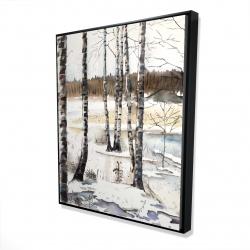 Framed 48 x 60 - 3D - Winter swamp
