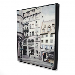 Framed 48 x 60 - 3D - Street scene in germany