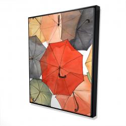 Framed 48 x 60 - 3D - The umbrellas of petit champlain