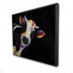 Framed 48 x 60 - 3D - One funny cow