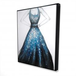 Framed 48 x 60 - 3D - Blue princess dress