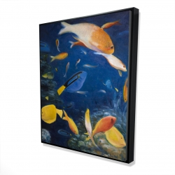 Framed 48 x 60 - 3D - Colorful fish under the sea