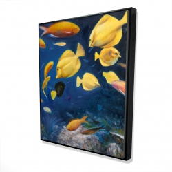 Framed 48 x 60 - 3D - Fish under the sea