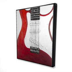 Framed 48 x 60 - 3D - Red electric guitar