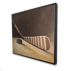 Framed 48 x 60 - 3D - Stick and hockey puck