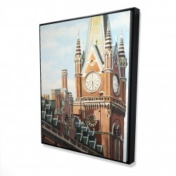 Framed 48 x 60 - 3D - St-pancras station in london