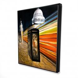 Framed 48 x 60 - 3D - Fast london bus