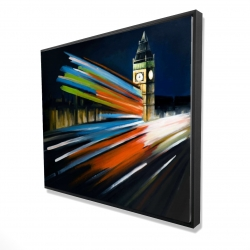 Framed 48 x 60 - 3D - London bus with long exposure