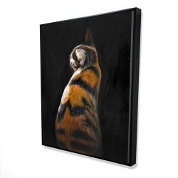 Framed 48 x 60 - 3D - Spotted cat