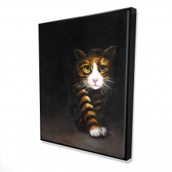 Framed 48 x 60 - 3D - Discreet cat