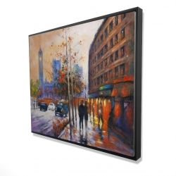 Framed 48 x 60 - 3D - City by fall