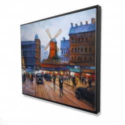Framed 48 x 60 - 3D - Street scene to moulin rouge