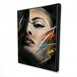 Framed 48 x 60 - 3D - Abstract woman portrait