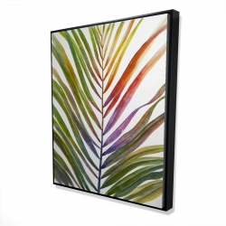 Framed 48 x 60 - 3D - Watercolor tropical palm leave