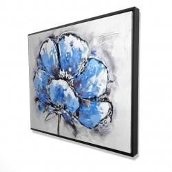 Framed 48 x 60 - 3D - Abstract blue petals